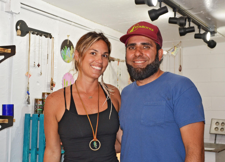 Gabby and Rusty of Evrbottle, an artist co-op in Carlsbad, CA